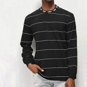 Supra Crewneck Striped Long Sleeve Pullover